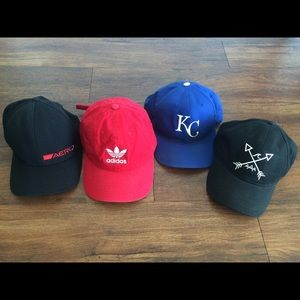 Bundle Of 4 Men's Hats Adidas Aero Original KC